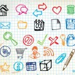 Royalty-Free Stock Vector Image: Set of colorful doodle computer icons