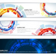 Set of colorful technical banners — Stock Vector