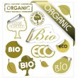 Set of vector bio, eco, organic elements — Image vectorielle