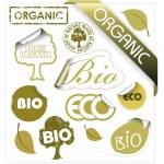 Set of vector bio, eco, organic elements — Stock Vector