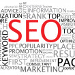 SEO - search engine optimalisatie poster — Stockvector