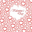 Love vector background made from red hearts - Stock Vector