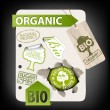 Wektor stockowy : Set of bio, eco, organic elements