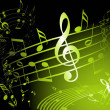 Green music theme — Vector de stock #6279700