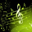 Green music theme - Image vectorielle