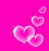Corações de bolha vítreo — Vetorial Stock