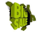 Sprzedam duże zniżki reklama — Wektor stockowy