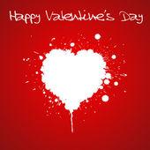 Grunge valentijnsdag kaart — Stockvector