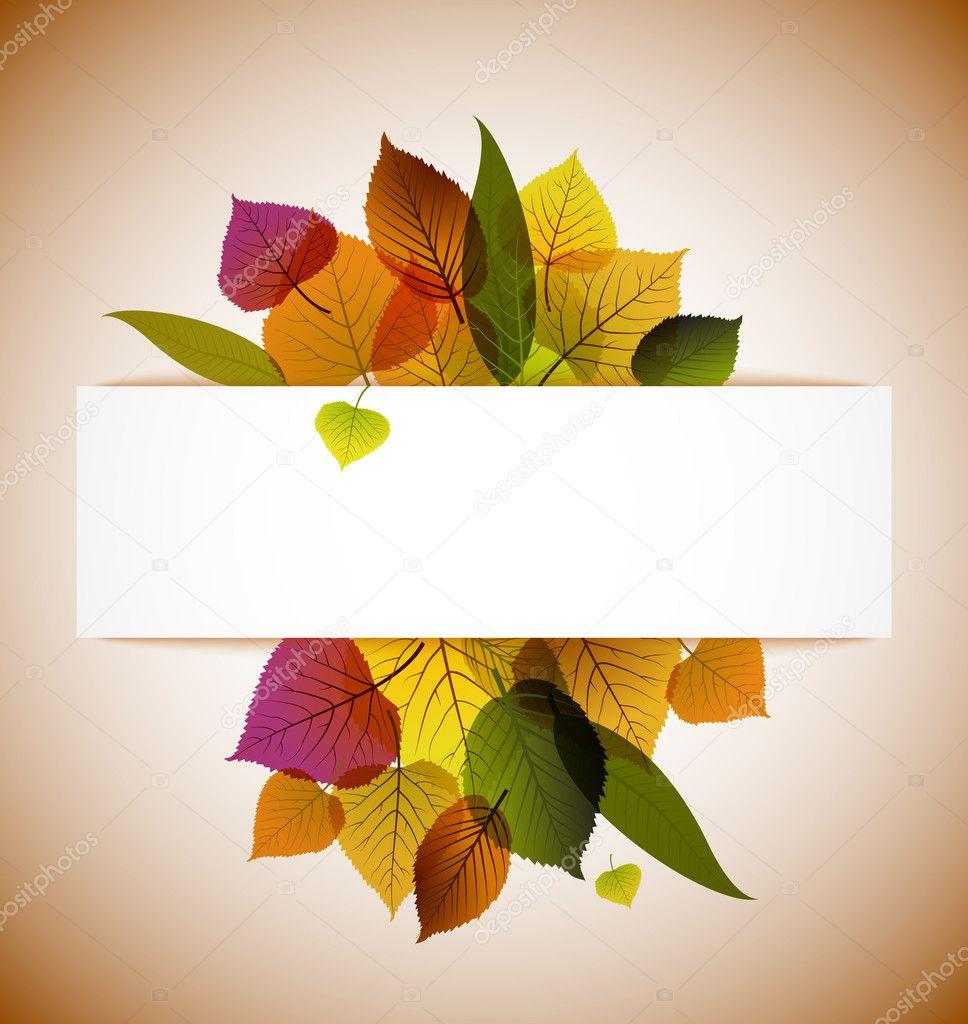 秋天枫叶抽象背景