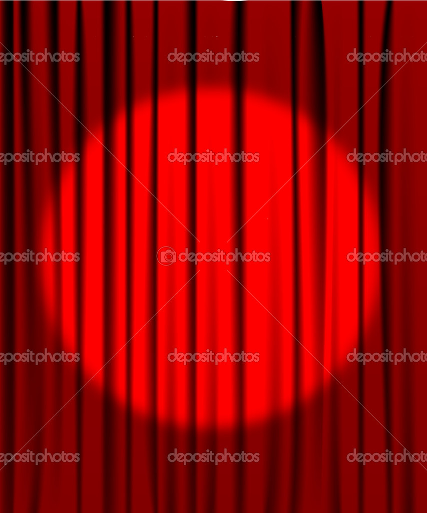 Red Cinema Curtains White Cinema Theatre Screen With Red