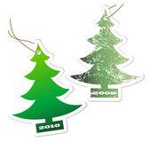 Aromatic Christmas trees — Stock Vector