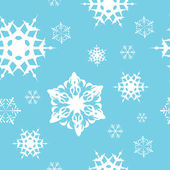 Winter - blue christmas seamless pattern — Stock Vector