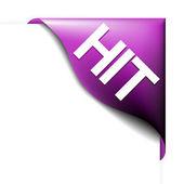 Pink corner ribbon for bestseller — Stock Vector