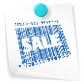 Prodej lístek papíru — Stock vektor