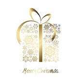 рождество настоящее окно из золотой снежинки — Cтоковый вектор