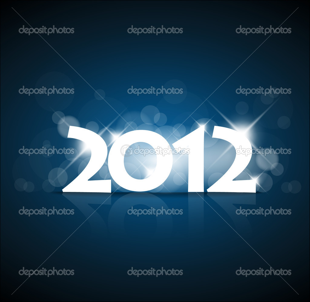 New Years card 2011 with back light and place for your text  Stock Vector #6325748