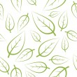 Fresh green leafs texture — Stock Vector