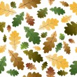 Oak leafs seamless pattern  — Stockvectorbeeld