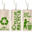 Grunge tags for recycling — Stock Vector