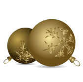 Golden Christmas bulbs — 图库矢量图片