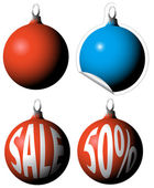 Kerstmis lampen als een verkoop-tags — Stockvector