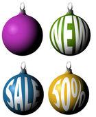 Set of Christmas bulbs — Stock Vector