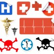Set of various vector medical symbols — Stock Vector