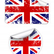 Set of UK labels - Stock Vector