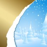 Snowy winter landscape — Stock Vector