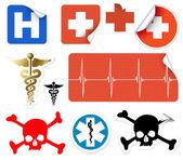 Set of various vector medical symbols — Stock Vector