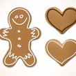 Stock Vector: Christmas gingerbreads