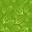 Fresh green leafs seamless pattern - Stock Vector