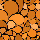 Orange abstract seamless pattern — Stock Vector