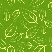 Fresh green leafs seamless pattern — Stock Vector