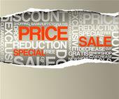 Sale discount advertisement — Stock Vector
