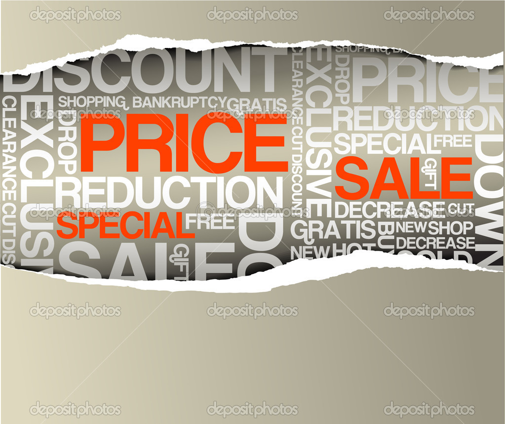 Sale discount advertisement - Hole with texts  (horizontal version)  Stock Vector #6371286