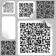 Set of labels with qr codes - Stock Vector