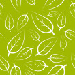 Fresh green leafs texture — Stockvektor  #6428711