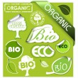 Set of bio, eco, organic elements — ストックベクター #6428717