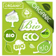 Set of bio, eco, organic elements — Stock Vector