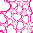 Love seamless vector pattern  — Vettoriali Stock