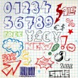 Royalty-Free Stock Vector Image: Set of colorful doodle eshop