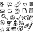 Royalty-Free Stock Vector Image: Set of doodle computer icons