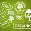 Set of stamps for organic food - Image vectorielle