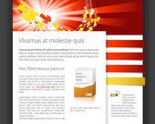 Dynamic website template — Stock Vector