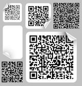 Set of labels with qr codes — Stock Vector