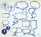Set of doodle speech bubbles — Stock Vector