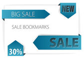 Blue paper arrows - Vector sale — Stock Vector
