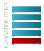 Modern blue navigation items — Stock Vector