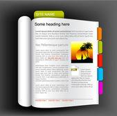 Web site template - open book — Stock Vector